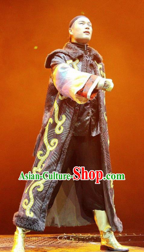 Chinese Picturesque Huizhou Ancient Qing Dynasty Royal Highness Clothing Stage Performance Dance Costume for Men