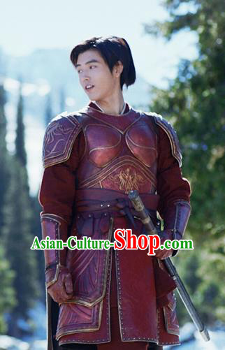 Ever Night Chinese Drama Ancient General Armor Swordsman Ning Que Costumes for Men