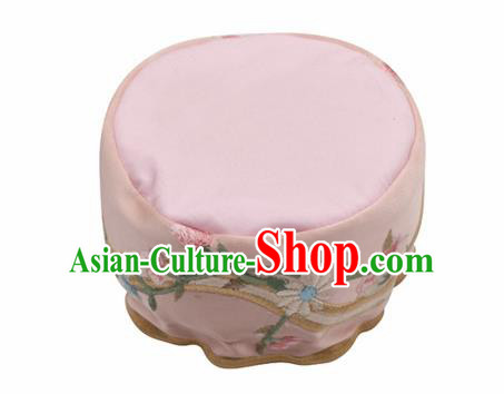 Traditional Chinese Ancient Termofor Cover Embroidered Pink Brocade Bag