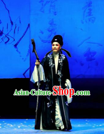Phoenix Hairpin Chinese Peking Opera Lu You Clothing Stage Performance Dance Costume and Headpiece for Men
