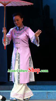 Shi Niang Chinese Classical Dance Pink Dress Stage Performance Dance Costume and Headpiece for Women
