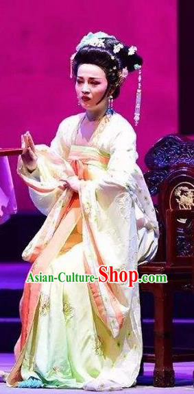 Amber Fate Chinese Beijing Opera Imperial Consort Dress Stage Performance Dance Costume and Headpiece for Women