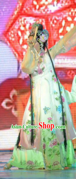 Gucuo Marriage Chinese Beijing Opera Dress Stage Performance Dance Costume and Headpiece for Women