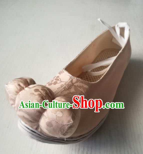 Asian Chinese Traditional Shoes Ancient Tang Dynasty Princess Embroidered Shoes Hanfu Shoes for Women