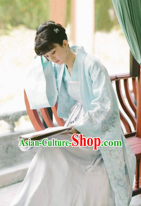 The Story Of MingLan Chinese Ancient Song Dynasty Nobility Lady Embroidered Costume for Rich Women