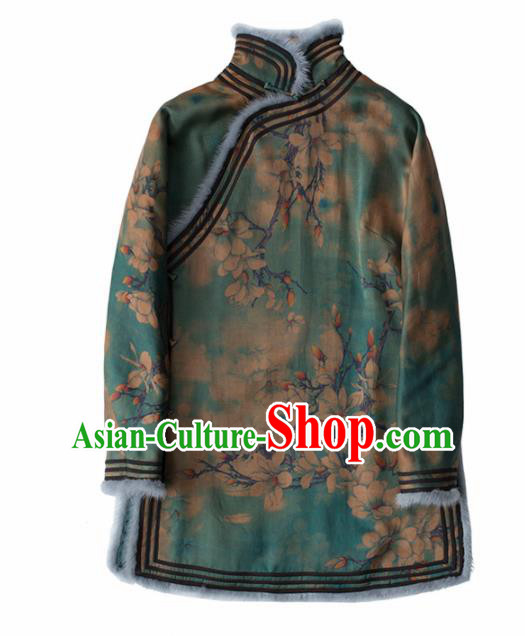 Chinese Traditional National Costume Tang Suit Upper Outer Garment Watered Gauze Blouse for Women