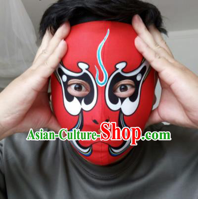 Chinese Traditional Sichuan Opera Face Changing Red Masks Handmade Painting Facial Makeup