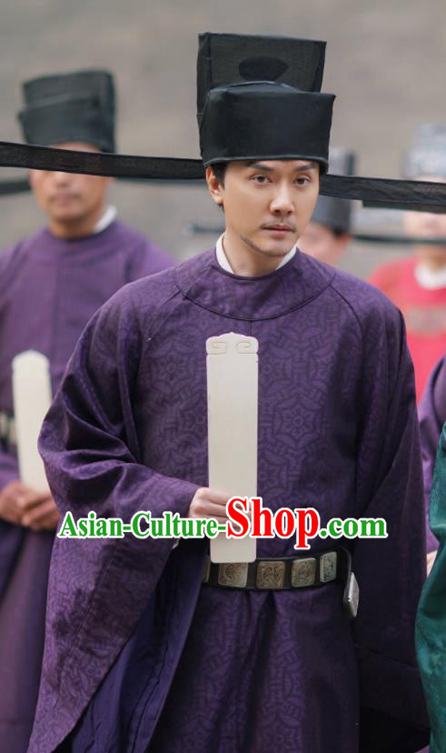 The Story Of MingLan Traditional Chinese Ancient Song Dynasty Military Officer Replica Costume for Men