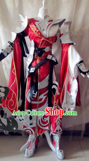 Chinese Traditional Cosplay Costume Body Armour Ancient Swordswoman Female General Hanfu Dress for Women