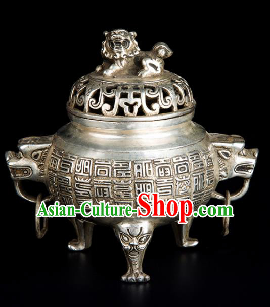 Chinese Traditional Taoism Brass Pi Xiu Incense Burner Feng Shui Items Bagua Censer Decoration