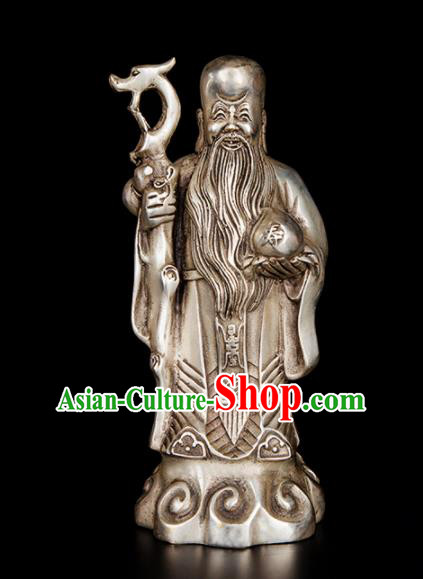 Chinese Traditional Feng Shui Items Taoism Bagua Brass Decoration Bronze Longevity God Statue