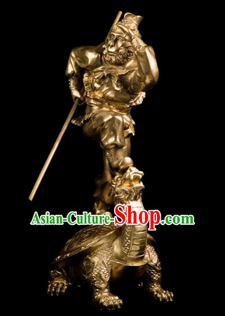 Chinese Traditional Feng Shui Items Taoism Bagua Brass Monkey King Decoration