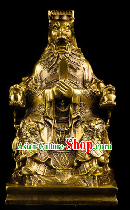 Chinese Traditional Feng Shui Items Taoism Bagua Decoration Brass Dragon King Statue