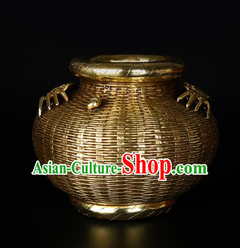 Chinese Traditional Feng Shui Items Taoism Bagua Brass Crab Creel Decoration