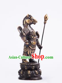 Chinese Traditional Feng Shui Items Taoism Bagua Brass Chinese Zodiac Horse Statue Decoration