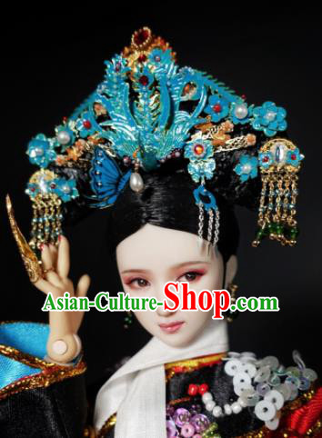 Chinese Ancient Imperial Consort Phoenix Headwear Traditional Qing Dynasty Palace Manchu Hair Accessories for Women