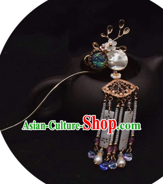 Chinese Ancient Palace Hair Clip Princess Cloisonne Hairpins Traditional Handmade Hanfu Hair Accessories for Women