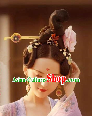 Handmade Chinese Court Hair Clip Traditional Hanfu Hairpins Ancient Tang Dynasty Queen Hair Accessories for Women