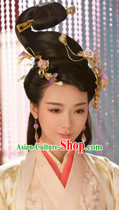Handmade Chinese Court Hanfu Hairpins Traditional Hair Clip Ancient Han Dynasty Queen Hair Accessories for Women