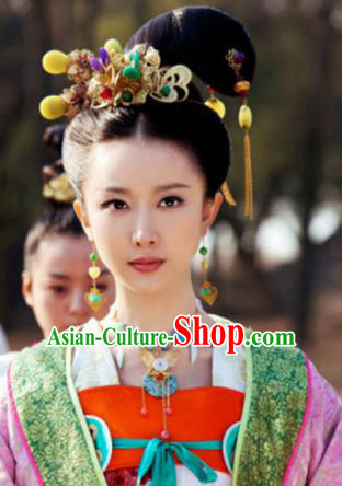 Handmade Chinese Tang Dynasty Court Hairpins Traditional Hanfu Hair Clips Ancient Queen Hair Accessories for Women