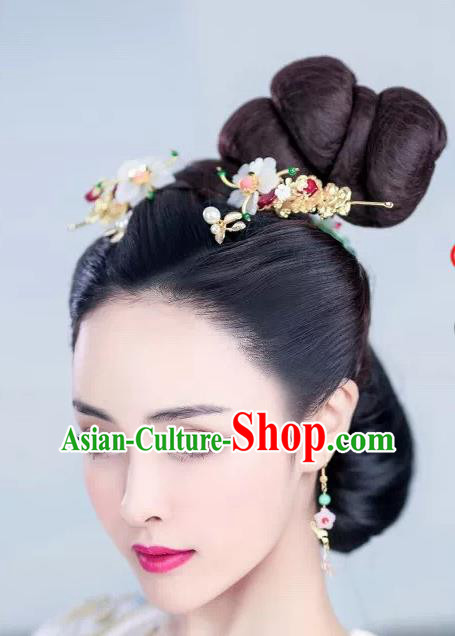 Handmade Chinese Palace Princess Hair Clips Hairpins Ancient Traditional Hanfu Hair Accessories for Women