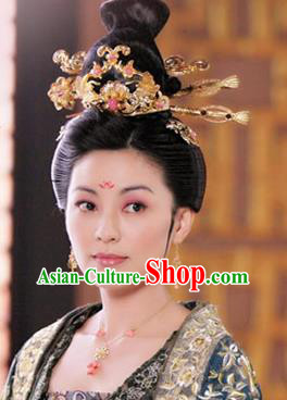 Handmade Chinese Hanfu Hairpins Traditional Court Hair Clips Ancient Tang Dynasty Queen Hair Accessories for Women