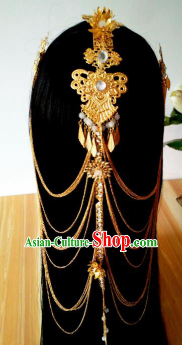 Chinese Handmade Hanfu Palace Phoenix Coronet Hair Clasp Hairpins Traditional Ancient Princess Hair Accessories for Women