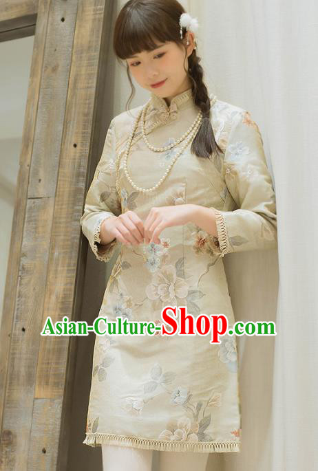 Chinese National Cheongsam Traditional Classical Tang Suit Qipao Dress for Women