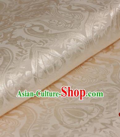 Chinese Traditional Royal Pattern Champagne Brocade Material Cheongsam Classical Fabric Satin Silk Fabric