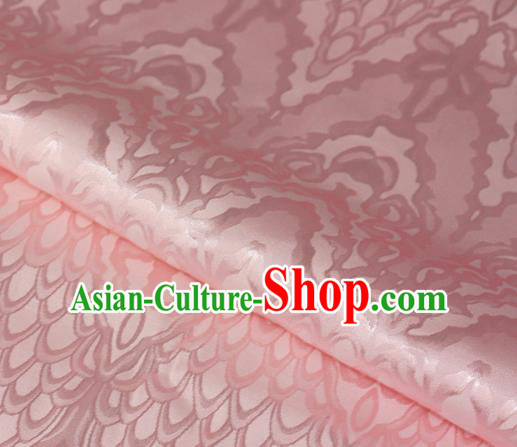 Chinese Traditional Royal Scale Pattern Pink Brocade Material Cheongsam Classical Fabric Satin Silk Fabric