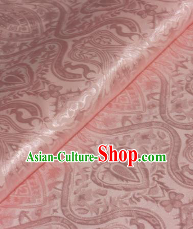 Chinese Traditional Royal Pattern Pink Brocade Material Cheongsam Classical Fabric Satin Silk Fabric