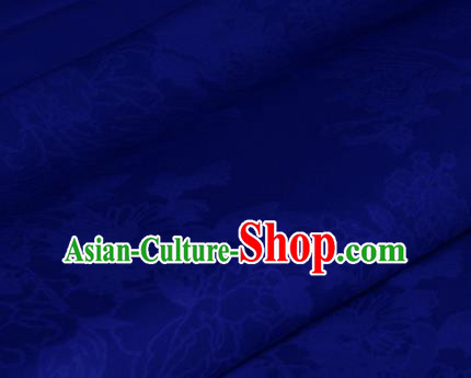 Chinese Traditional Royal Pattern Royalblue Brocade Material Cheongsam Classical Fabric Satin Silk Fabric