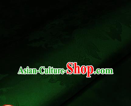 Chinese Traditional Royal Pattern Green Brocade Material Cheongsam Classical Fabric Satin Silk Fabric