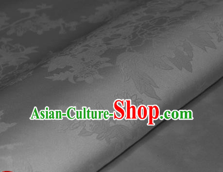 Chinese Traditional Royal Pattern White Brocade Material Cheongsam Classical Fabric Satin Silk Fabric