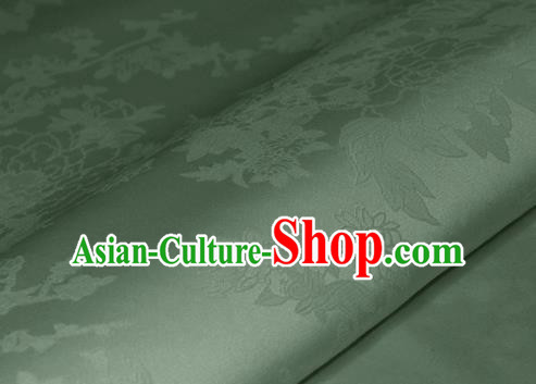 Chinese Traditional Royal Pattern Light Green Brocade Material Cheongsam Classical Fabric Satin Silk Fabric