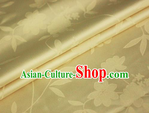 Chinese Traditional Hanfu Royal Pattern Yellow Brocade Material Cheongsam Classical Fabric Satin Silk Fabric
