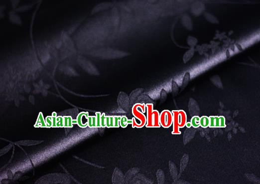 Chinese Traditional Hanfu Royal Pattern Black Brocade Material Cheongsam Classical Fabric Satin Silk Fabric