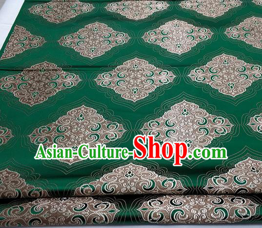 Chinese Traditional Tang Suit Green Brocade Royal Pattern Satin Fabric Material Classical Silk Fabric