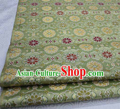 Asian Chinese Traditional Tang Suit Royal Pattern Green Brocade Satin Fabric Material Classical Silk Fabric