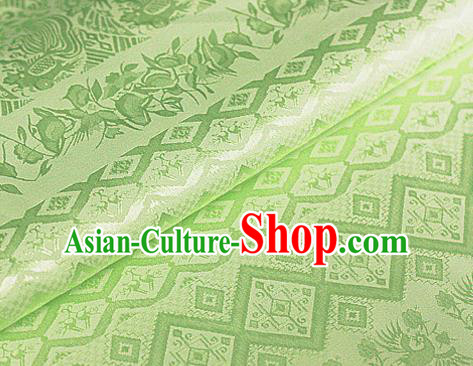 Asian Chinese Traditional Royal Pattern Green Brocade Cheongsam Silk Fabric Chinese Satin Fabric Material