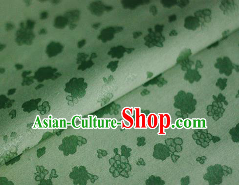 Asian Chinese Traditional Royal Flowers Pattern Green Brocade Cheongsam Silk Fabric Chinese Satin Fabric Material