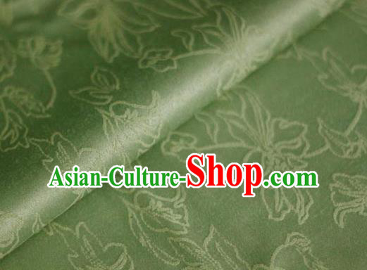 Asian Chinese Traditional Classical Jacquard Pattern Green Brocade Cheongsam Silk Fabric Chinese Satin Fabric Material