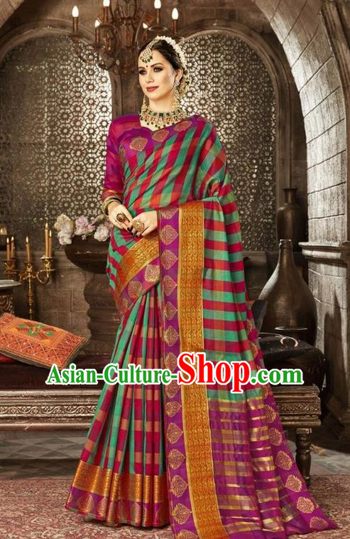 Asian India Traditional Sari Dress Indian Court Green Costume Bollywood Queen Clothing for Women