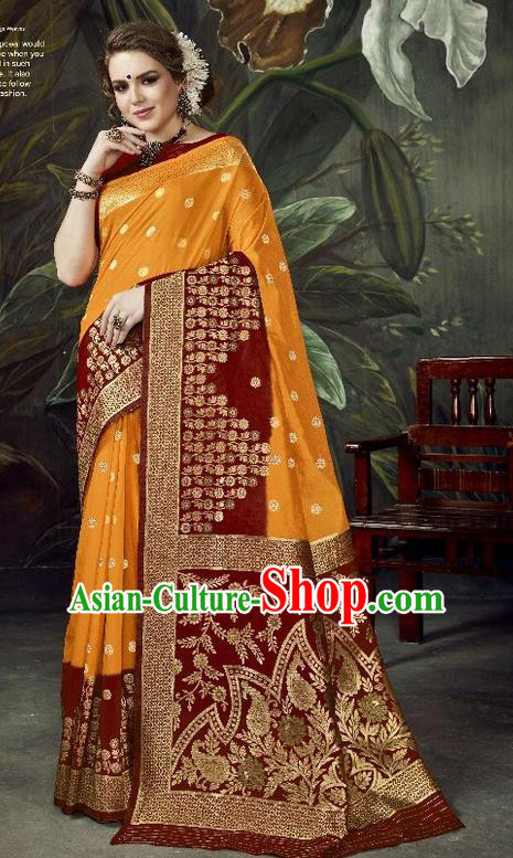 Asian India Traditional Bollywood Dark Red Sari Dress Indian Court Queen Costume for Women