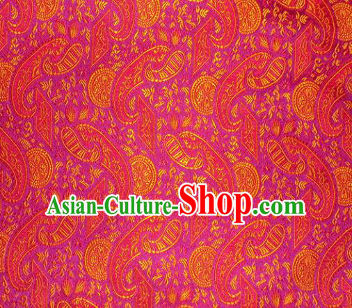 Chinese Classical Pipa Pattern Design Rosy Brocade Asian Traditional Hanfu Silk Fabric Tang Suit Fabric Material