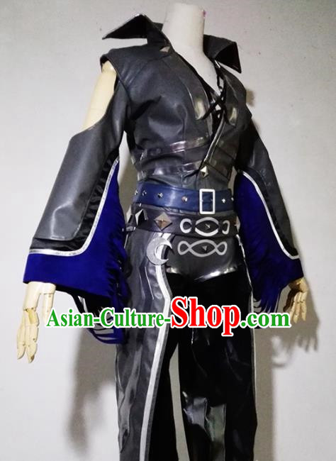 Chinese Traditional Cosplay Female Warrior Armour Costume Ancient Swordsman Dress for Women