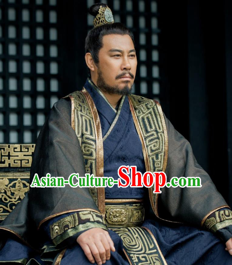 Chinese Ancient Shang Dynasty Royal Highness Wu Cheng Drama The Legend of Deification Costume for Men