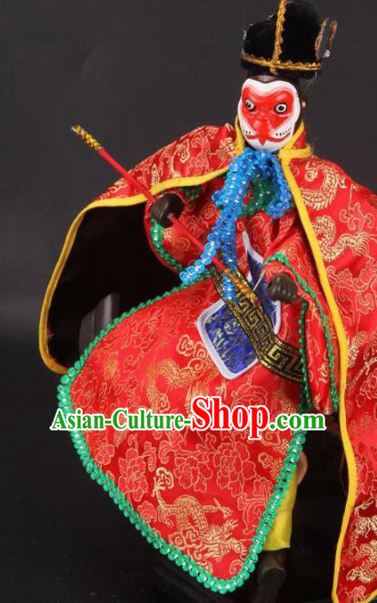 Traditional Chinese Sun Wukong Marionette Puppets Handmade Puppet String Puppet Wooden Image Arts Collectibles