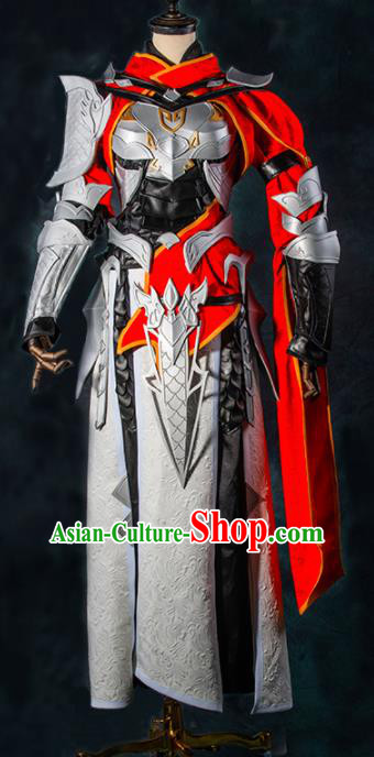 Chinese Ancient Drama Cosplay Clothing Young General Armor Traditional Hanfu Swordsman Costume for Men