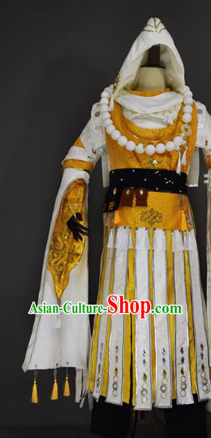 Chinese Ancient Cosplay Monk Clothing Traditional Hanfu Swordsman Costume for Men